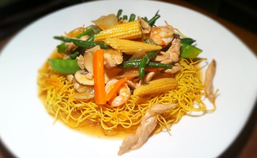 Green Curry Crispy Noodles