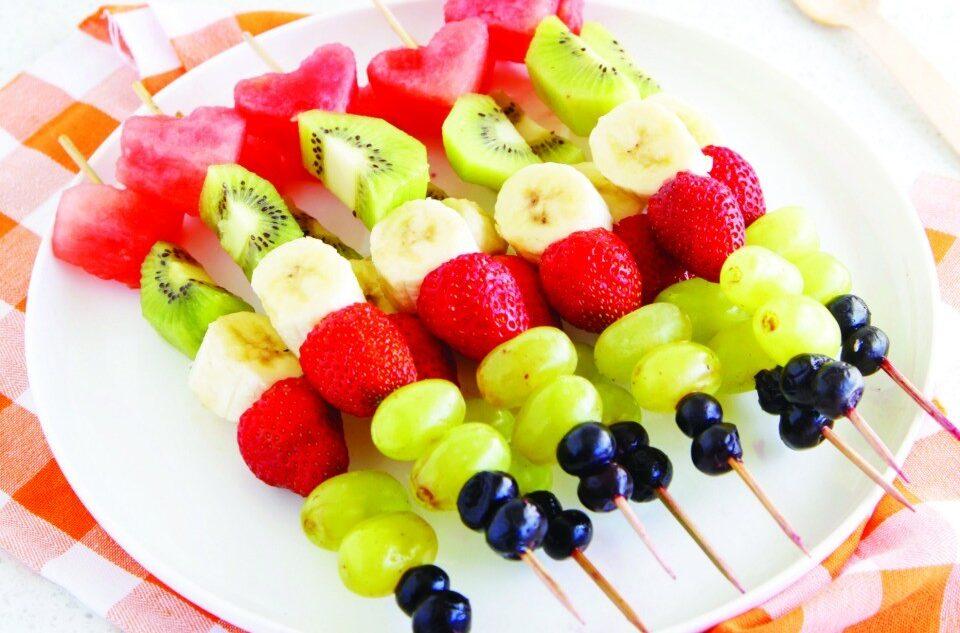 Fruit Kebabs & Mango Dipping Sauce