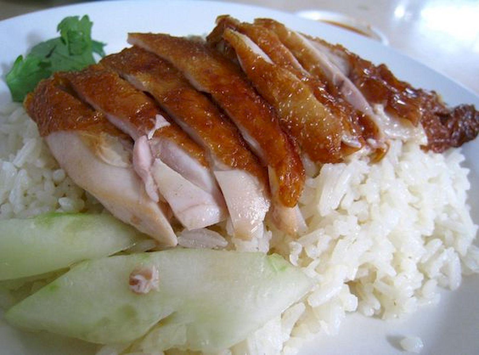 Singapore Hainanese (Roasted) Chicken Rice