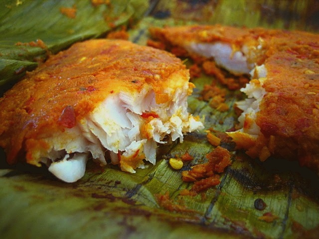 Ikan Bakar (Grilled Fish Wrapped in Banana Leaves)