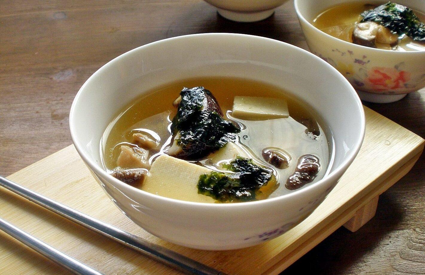 Miso Soup w-Shiitake Mushrooms