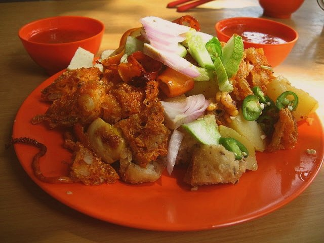 Singapore Indian Rojak Ingredients, Sauce, Fritters